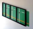 Metrò (2014) | Legno e pigmenti su laminato | cm 190x100x4