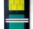 Senza titolo (2014) | Assemblato | Acrilico su tavola | cm 40x70x3