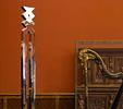 Repertorio orfico (arpa e grande diapason) (1994-2005)   Installazione   Acciaio inox e marmo   cm 288x60x60   Collezione privata